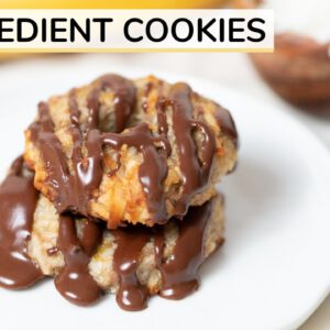 4-INGREDIENT BANANA COCONUT COOKIES | healthy samoas