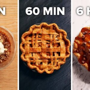 6-Min Vs. 60-Min Vs. 6-Hour Apple Pie • Tasty