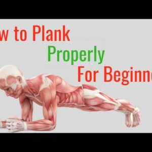 How to Plank Properly for Beginners - Step By Step Tutorial