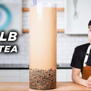I Made A Giant 100-Pound Boba Milk Tea •Tasty