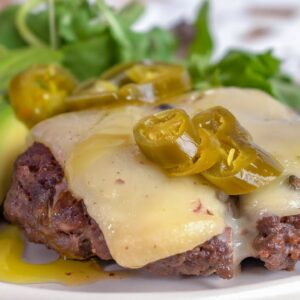 Keto Recipe - Tex-Mex Open-Faced Burger