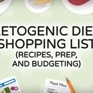 Ketogenic Diet Shopping List  [Recipes, Prep, and Budgeting]
