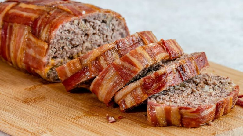 Low Carb Bacon Wrapped Meatloaf Recipe