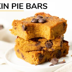 PUMPKIN PIE BARS | healthy recipe