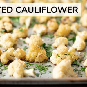 ROASTED CAULIFLOWER RECIPE | how to roast cauliflower