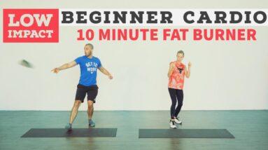 10 minute LOW IMPACT fun cardio workout. No equipment.