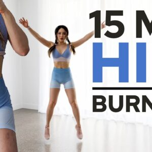 15 min Intense HIIT for Fat Burn | Standing & No Equipment