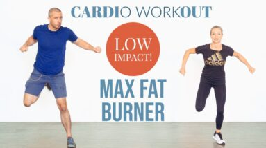Fat burning, high intensity, low impact home cardio workout