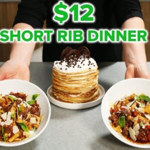 I Tried To Make a $12 Short Rib Date Night Dinner • Tasty