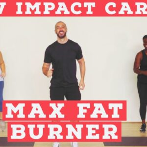 LOW IMPACT home cardio workout - fat burner - NO EQUIPMENT!