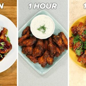 10-Minute Vs. 1-Hour Vs. 1-Day Chicken Wings • Tasty