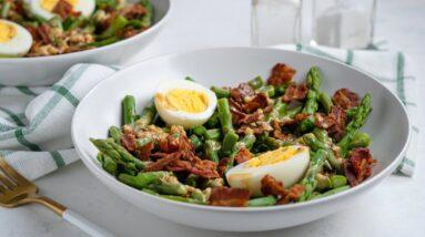 Keto Recipe - Asparagus, Egg, and Bacon Salad