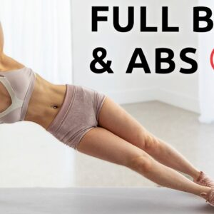 Full Body & Abs Workout | 20 Min + ANNOUNCEMENT