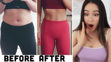 Realistic Before After Results & Fitness Journeys   #ChloeTingChallenge