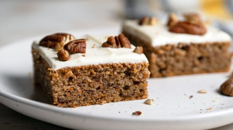 Keto Carrot Cake Recipe [with Cream Cheese Frosting]