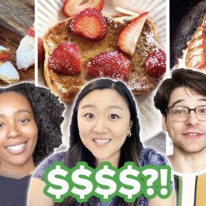 $2 vs. $10 vs. $100 Breakfast Budget Challenge • Tasty