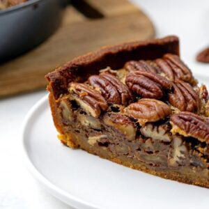 Keto Caramel Pecan Pie Recipe