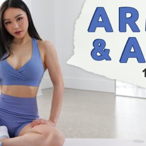 10 Min ARMS & ABS Workout | Toned Arms - No Equipment