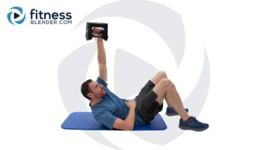 Advanced Core Strength Workout - At Home Abs Routine with Dumbbell