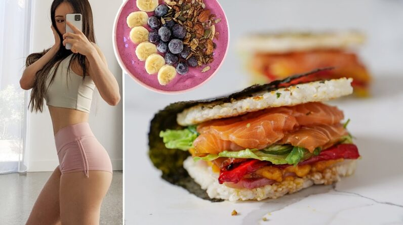 What I eat to be yummy.. like a SUSHI BURGER (Healthy)